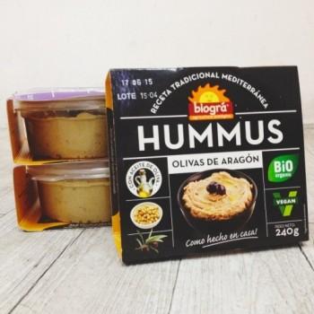Hummus de olivas de aragón 240g Bio