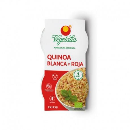vaso de quinoa roja y blanca bio 2 x 125g