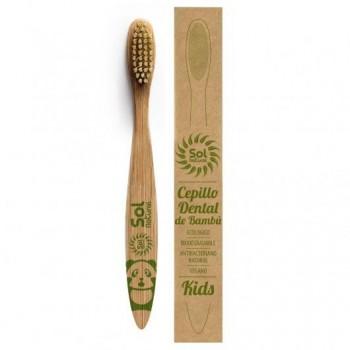 cepillo de bambú infantil