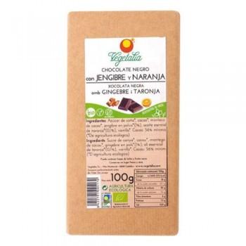 Choco Negro Jengibre y Naranja 100 g