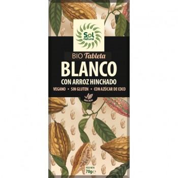 TABLETA CHOCOLATE BLANCO CON ARROZ HINCHADO BIO 70g